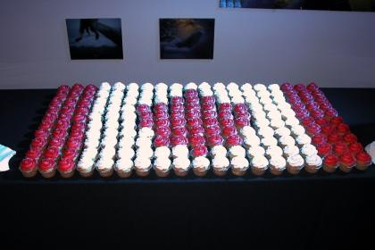 Canada Flag Made Out of Cupcakes from the BMO Gala
